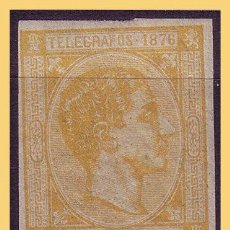 Sellos: PUERTO RICO TELÉGRAFOS 1876 ALFONSO XII, EDIFIL Nº 12S *. Lote 28216354