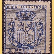 Timbres: CUBA TELÉGRAFOS 1878 ESCUDO DE ESPAÑA, EDIFIL Nº 44 * *. Lote 28331370