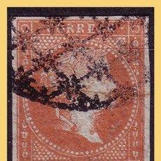 Sellos: CUBA (ANTILLAS) 1855 ISABEL II, EDIFIL Nº 3IDA (O) FILIGRANA DESPLAZADA. Lote 28331738