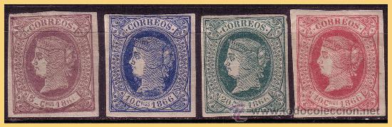 CUBA 1866 ISABEL II, EDIFIL Nº 13 A 16 * (Sellos - España - Colonias Españolas y Dependencias - América - Cuba)