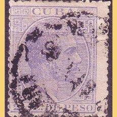 Sellos: CUBA 1883 ALFONSO XII, EDIFIL Nº 96B (O) RARO. Lote 28388730