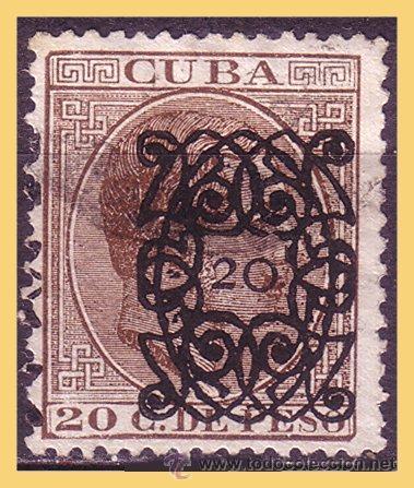 CUBA 1883 ALFONSO XII, ARAÑITAS, EDIFIL Nº 82 (O) (Sellos - España - Colonias Españolas y Dependencias - América - Cuba)
