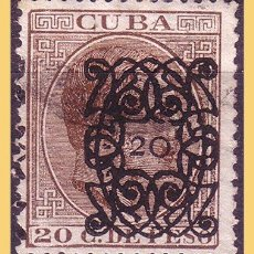Sellos: CUBA 1883 ALFONSO XII, ARAÑITAS, EDIFIL Nº 82 (O) . Lote 28388953