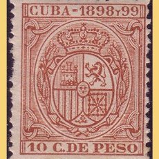 Timbres: CUBA FISCALES 1898 Y 1989 ALFONSO XIII, 10 CTS CASTAÑO * *. Lote 28465949