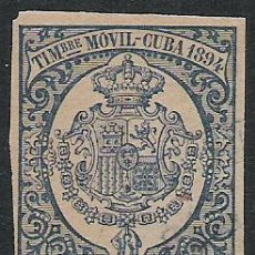 Sellos: 466-SELLO FISCAL GRAN FORMATO TIMBRE MOVIL CUBA COLONIA DE ESPAÑA.5 CENTAVOS AÑO 1894,CALIDAD . Lote 28645180