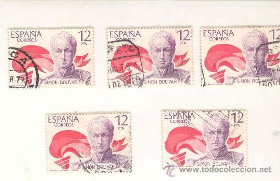SIMON BOLIVAR AÑO 1979, USADOS (Sellos - España - Colonias Españolas y Dependencias - América - Otros)