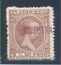 """EDIFIL 122M """"MUESTRA"""" (Sellos - España - Colonias Españolas y Dependencias - América - Puerto Rico)"""