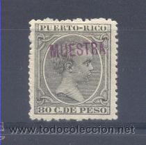 """PUERTO RICO EDIFIL 129M* """"MUESTRA"""" (Sellos - España - Colonias Españolas y Dependencias - América - Puerto Rico)"""