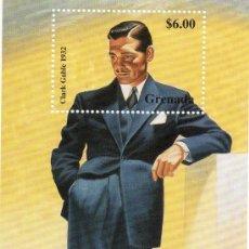 Sellos: SELLO DE CLARK GABLE 1932 6$ DE GRENADA - CON SU HOJA DE COLECCION DE SELLOS DE LAS ESTRELLAS -. Lote 30368450