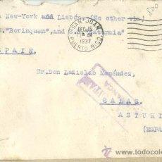 Sellos: CARTA CIRCULA DE SAN JUAN DE PUERTO RICO A SALAS (ASTURIAS) CENSURA MILITAR FRANCA. Lote 31286692