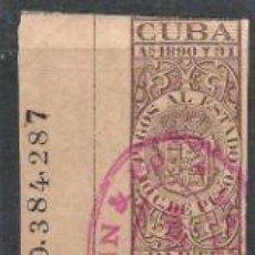 Sellos: 3401-SELLOS FISCALES CUBA COLONIA DE ESPAÑA AÑO 1890 PAGOS AL ESTADO.FISCAL,TERRITORIOS DE ESPAÑA E. Lote 31744667