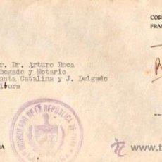 Sellos: SOBRE DEL CONSULADO DE CUBA DIRIGIDO A ESPAÑA, 1937. Lote 32174390