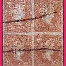Sellos: CUBA 1855 ISABEL II, B4 EDIFIL Nº 3 (O) VARIEDADES. Lote 32661173