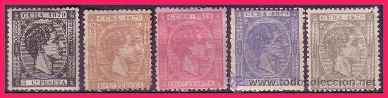 CUBA 1879 ALFONSO XII, EDIFIL Nº 50 A 54 * (Sellos - España - Colonias Españolas y Dependencias - América - Cuba)