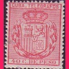 Timbres: CUBA TELÉGRAFOS 1896 ESCUDO DE ESPAÑA, EDIFIL Nº 84 * . Lote 32673963