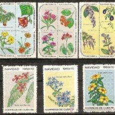 Sellos: CUBA, NAVIDAD 1969/70, SERIE COMPLETA. Lote 33323589