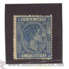 Selos: CUBA 1878 - EDIFIL NRO. 44 - ALFONSO XII - 5C - SIN GOMA. Lote 37852426