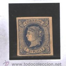 Francobolli: ANTILLAS 1864 - EDIFIL NRO. 11 - ISABEL II - 1 R. - SIN GOMA. Lote 38012137