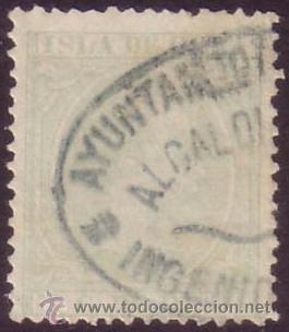 CUBA. (CAT. 127). 5 C. MAT. * AYUNTAMIENTO... * AZUL. MAGNÍFICO. RARO. (Sellos - España - Colonias Españolas y Dependencias - América - Cuba)
