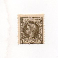 Sellos: ESPAÑA COLONIAS-CUBA 1898-EDIFIL 167- 15C. VERDE OLIVA. - NUEVO. Lote 38385643
