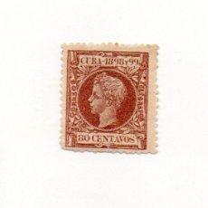 Sellos: ESPAÑA COLONIAS-CUBA 1898-EDIFIL 171- 80C. CAST.ROJ.OSC. - NUEVO. Lote 38385926