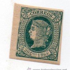Sellos: ESPAÑA COLONIAS-CUBA 1866-EDIFIL 15- 20C. VERDE. - NUEVO. Lote 38388731