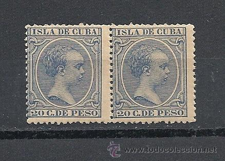 CUBA 1891-92, EDIFIL Nº 129**, ALFONSO XIII, PAREJA (Sellos - España - Colonias Españolas y Dependencias - América - Cuba)