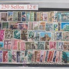 Sellos: 250 SELLOS, USADOS ESPAÑOLES, TODOS DIFERENTES. Lote 39010008
