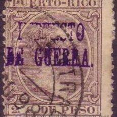 Sellos: PUERTO RICO. (CAT. 13). 2 CTO. VARIEDAD SOBRECARGA * FALTA CASI TODA LA PALABRA IMPUESTO *. RARO.. Lote 39025731