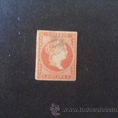 Sellos: ANTILLAS,CUBA,1857,EDIFIL 9(0),ISABEL II,PAPEL SIN FILIGRANA,USADO,ADELGAZADO. Lote 39339512