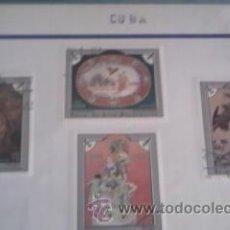 Sellos: LOTE DE 4 SELLOS DE CUBA AÑOS 70 ARTE. Lote 39860015