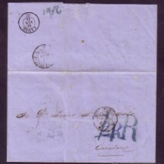 Sellos: CUBA.1858.CARTA D LA HABANA A CÁDIZ. *SIN SELLOS*.POR VÍA FRANCESA.DIVERSAS MARCAS.VARIAS TASAS.RRR.. Lote 27573148