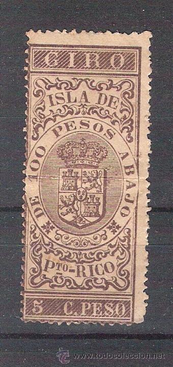 GIRO DE 5 CTVS DE PESO. PUERTO RICO. SELLO FISCAL. ANTILLAS. (Sellos - España - Colonias Españolas y Dependencias - América - Puerto Rico)