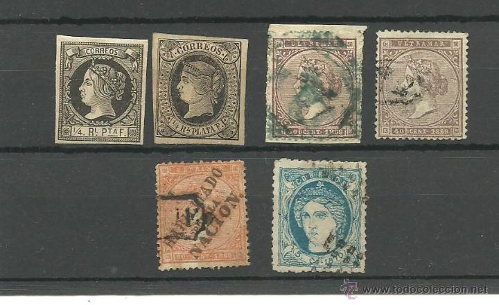 ANTILLAS -CUBA. CONJUNTO DE SEIS SELLOS CON VALOR DE 277 EUROS (Sellos - España - Colonias Españolas y Dependencias - América - Antillas)