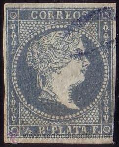 CUBA. (CAT. ANT. 1). 1/2 R. MAT. * 0 * DE PORTEO UTILIZADO EN CORREO CERTIFICADO. BONITO Y RARÍSIMO. (Sellos - España - Colonias Españolas y Dependencias - América - Cuba)