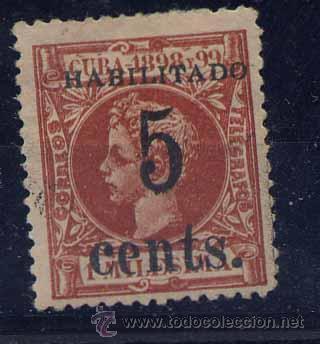 CUBA Y 126 X. SOBRECARGA TIPO II (Sellos - España - Colonias Españolas y Dependencias - América - Cuba)
