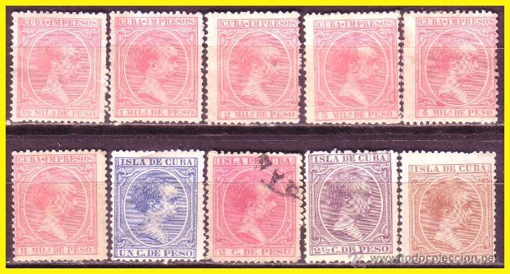 CUBA 1894 ALFONSO XIII, EDIFIL Nº 130 A 139 * (Sellos - España - Colonias Españolas y Dependencias - América - Cuba)