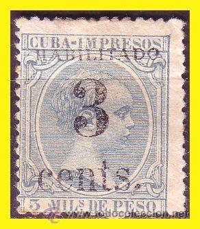 CUBA 1898 ALFONSO XIII, INTERVENCIÓN NORTEAMERICANA, EDIFIL Nº 18 (*) (Sellos - España - Colonias Españolas y Dependencias - América - Cuba)