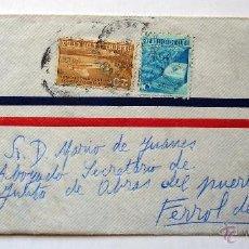 Sellos: SOBRE CIRCULADO DE EMBAJADA ESPAÑA EN LA HABANA (CUBA) A FERROL DEL CAUDILLO (LA CORUÑA). AÑOS 40-50. Lote 46651966
