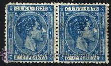 1878 CUBA EDIFIL 44* MH 5 CTS DE PESETA ALFONSO XII (Sellos - España - Colonias Españolas y Dependencias - América - Cuba)
