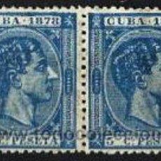 Sellos: 1878 CUBA EDIFIL 44* MH 5 CTS DE PESETA ALFONSO XII. Lote 47507248