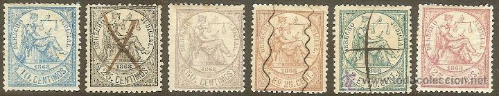 FISCALES. ANTILLAS. DERECHO JUDICIAL SERIE COMPLETA DE 1868 (Sellos - España - Colonias Españolas y Dependencias - América - Antillas)