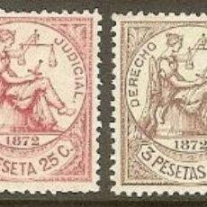 Sellos: FISCALES. ANTILLAS. DERECHO JUDICIAL SERIE COMPLETA DE 1872. Lote 47545350
