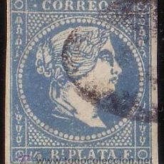 Sellos: CUBA. (CAT. ANT. 7/GRAUS 1447-VIII). 1/2 REAL. FALSO POSTAL TIPO VIII. MUY BONITO.. Lote 49842000