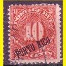 Sellos: PUERTO RICO TASAS 1898 IVERT Nº 3 (O). Lote 50157010