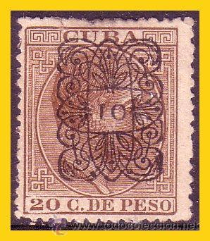 CUBA 1881 ALFONSO XII, ARAÑITAS, EDIFIL Nº 76HE (*) MARQUILLADO (Sellos - España - Colonias Españolas y Dependencias - América - Cuba)