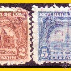 Timbres: CUBA FISCALES TIMBRE NACIONAL, 2 Y 5 CTS (O). Lote 53642616