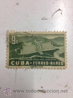 SELLO SANATORIO GENERAL BATISTA (Sellos - España - Colonias Españolas y Dependencias - América - Cuba)