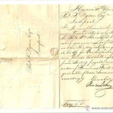 Sellos: 3693.-LA HABANA-CUBA-CARTA ENVIADA A LIVERPOOL-ABRIL DE 1827-HISTORIA POSTAL. Lote 54371142