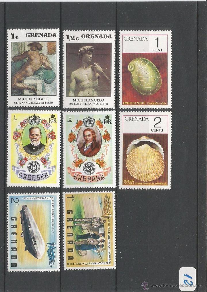 LOTE SELLOS DE GRENADA ( GRANADA )- 12 (Sellos - España - Colonias Españolas y Dependencias - América - Otros)